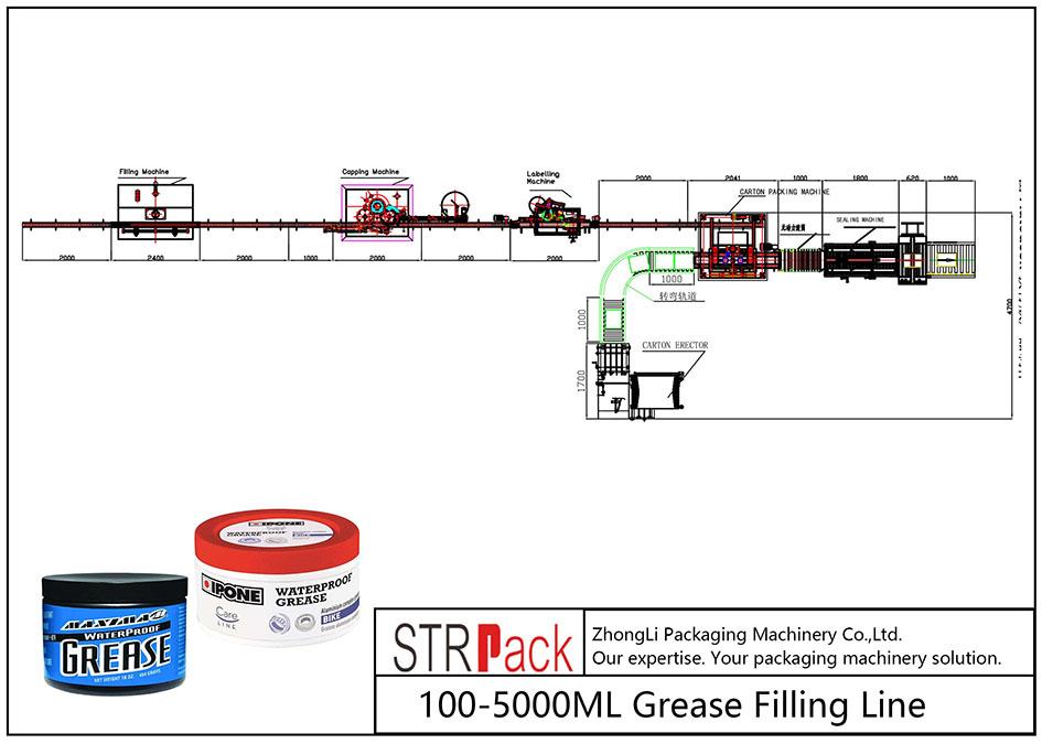 Автоматична линия за пълнене с мазнини 100ML-5L