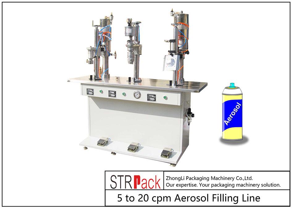 Полуавтоматична машина за пълнене с аерозол