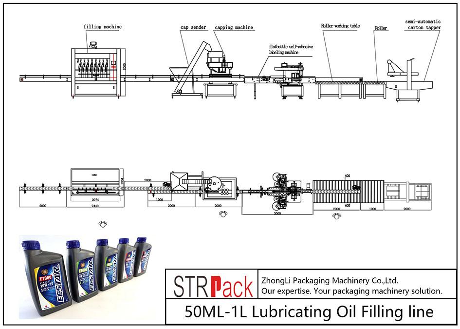 Автоматична линия за пълнене на смазочно масло 50ML-1L