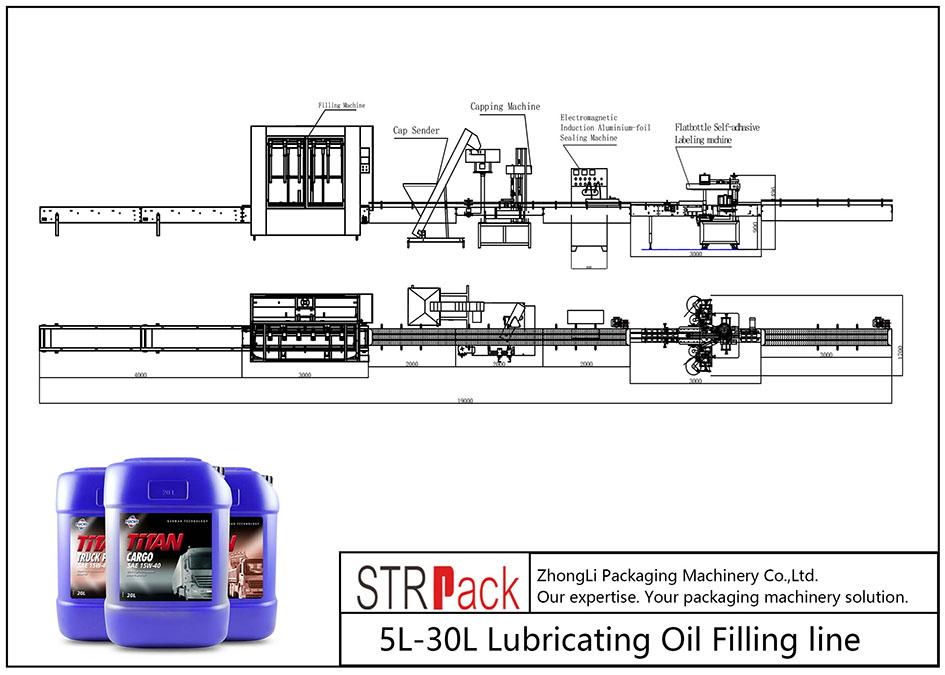 Автоматична линия за пълнене на смазочно масло 5L-30L