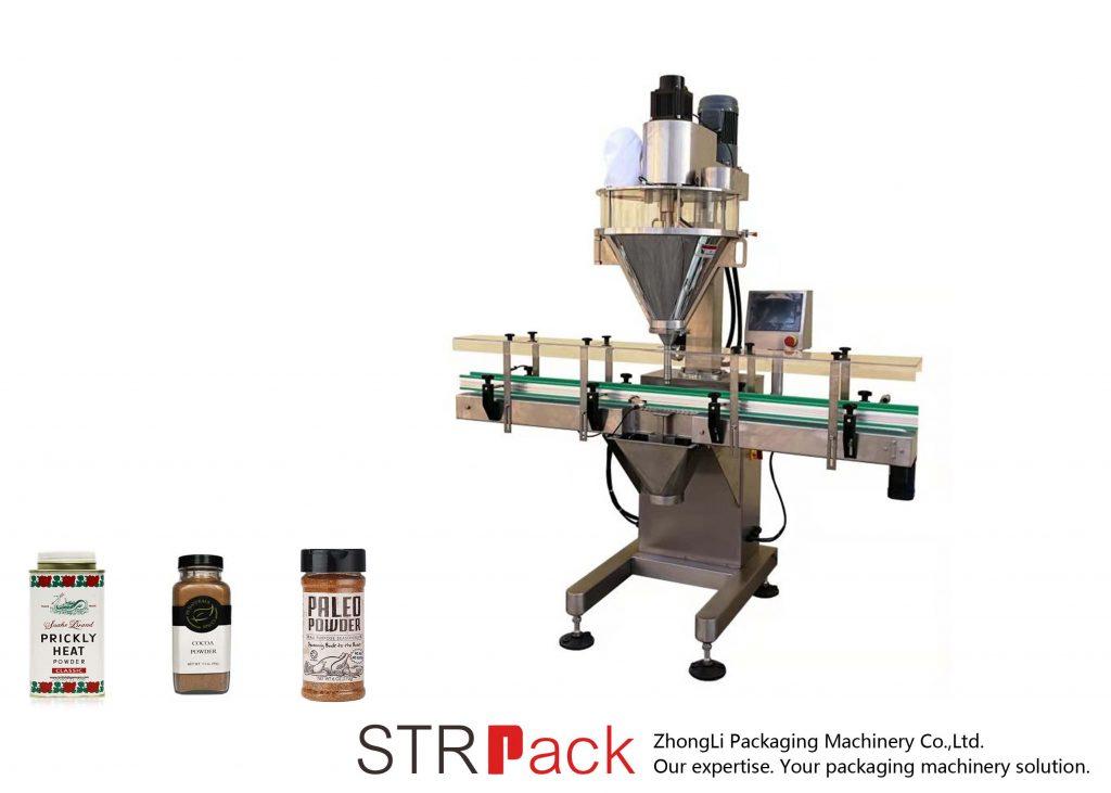 Автоматична машина за пълнене на прах със шнек