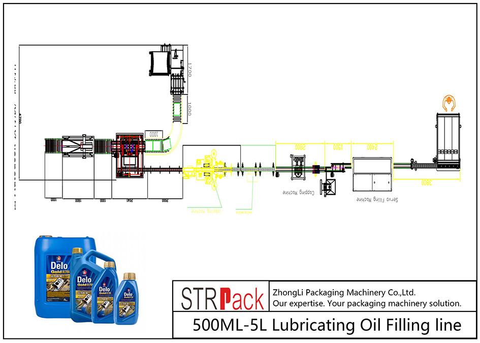 Автоматична линия за пълнене на смазочно масло 500ML-5L