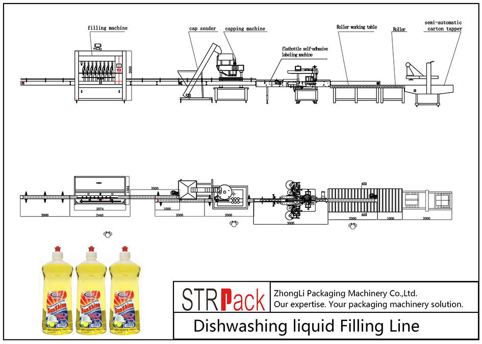 Автоматична линия за миене на съдове за миене на съдове