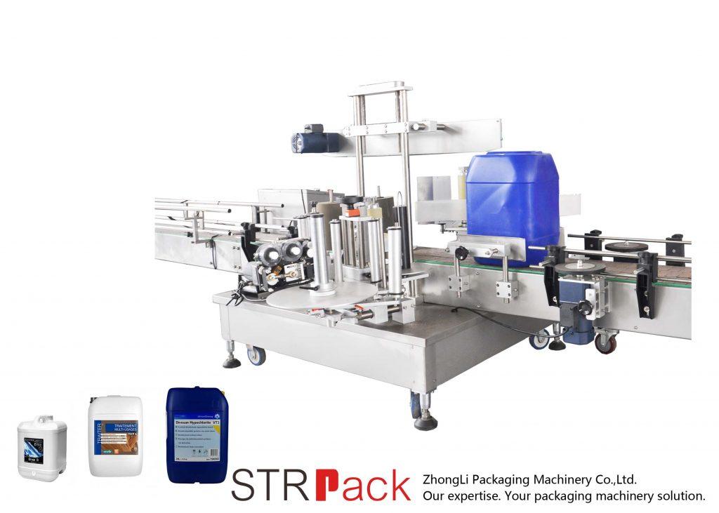 Автоматична машина за двустранно етикетиране за барабан 5-25L
