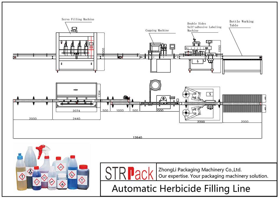 Автоматична линия за пълнене с хербициди
