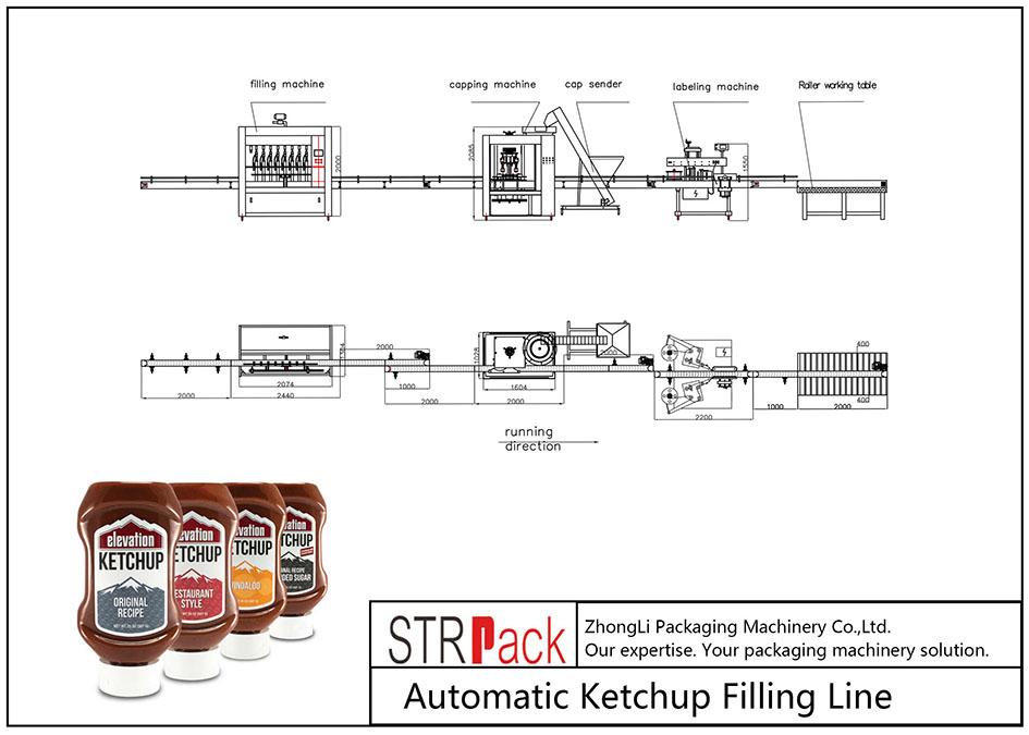 Автоматична линия за пълнене на кетчуп