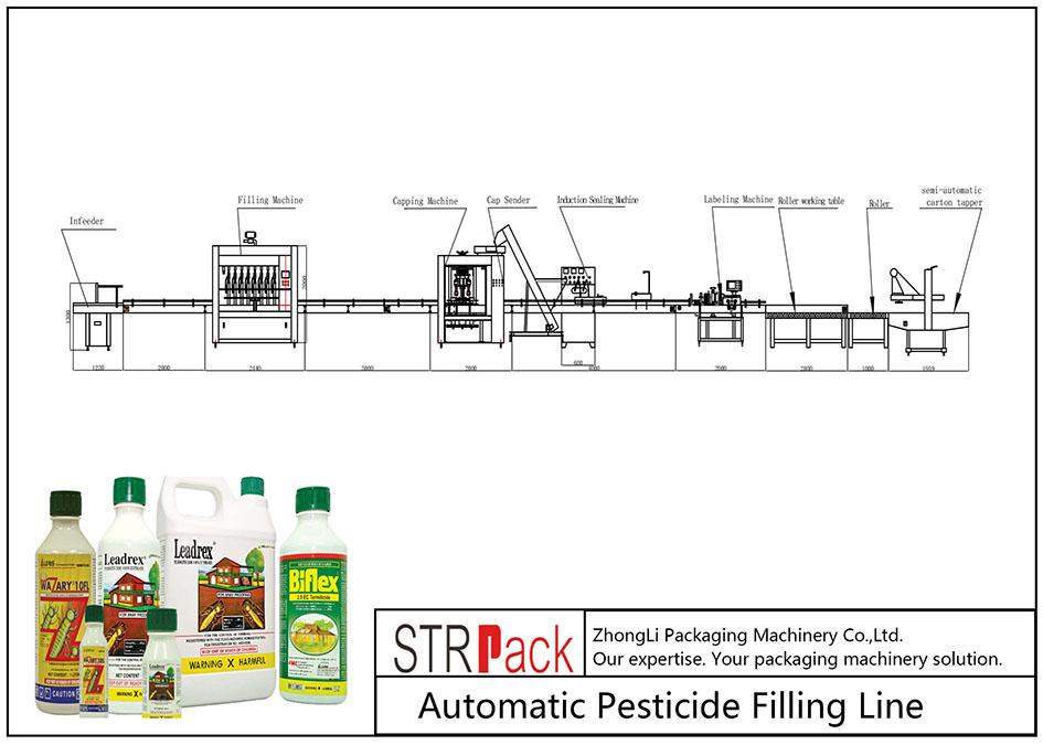 Автоматична линия за пълнене на пестициди