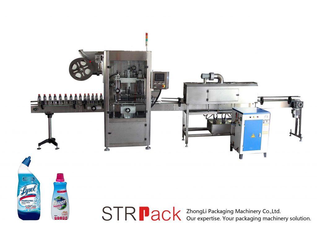 Автоматична машина за етикетиране с ръкави за свиване