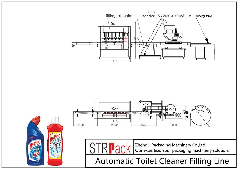 Автоматична линия за пълнене на тоалетна чистачка