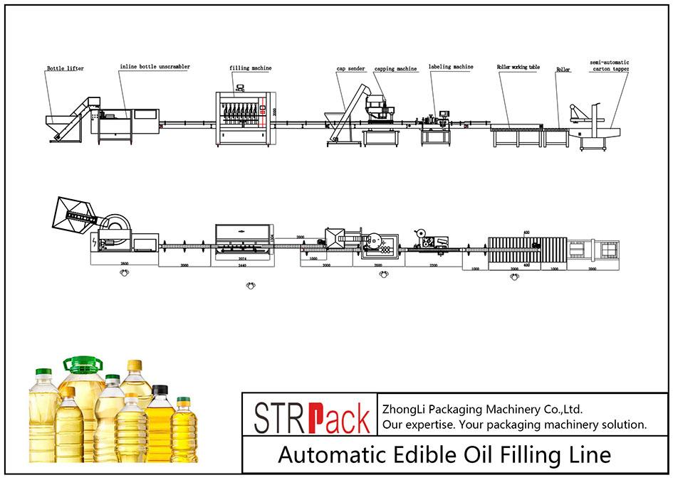 Автоматична линия за пълнене с ядливо масло