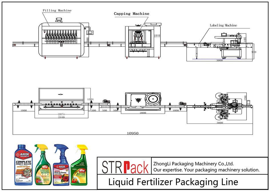 Автоматична опаковъчна линия за течни торове