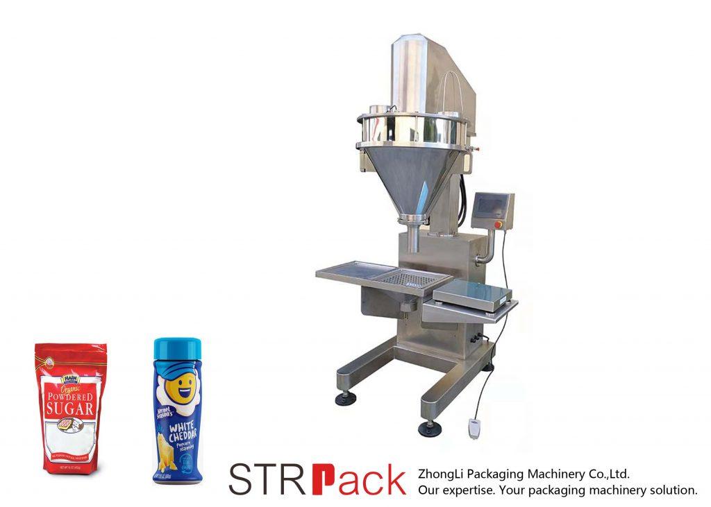 Полуавтоматична машина за пълнене на прах с шнек