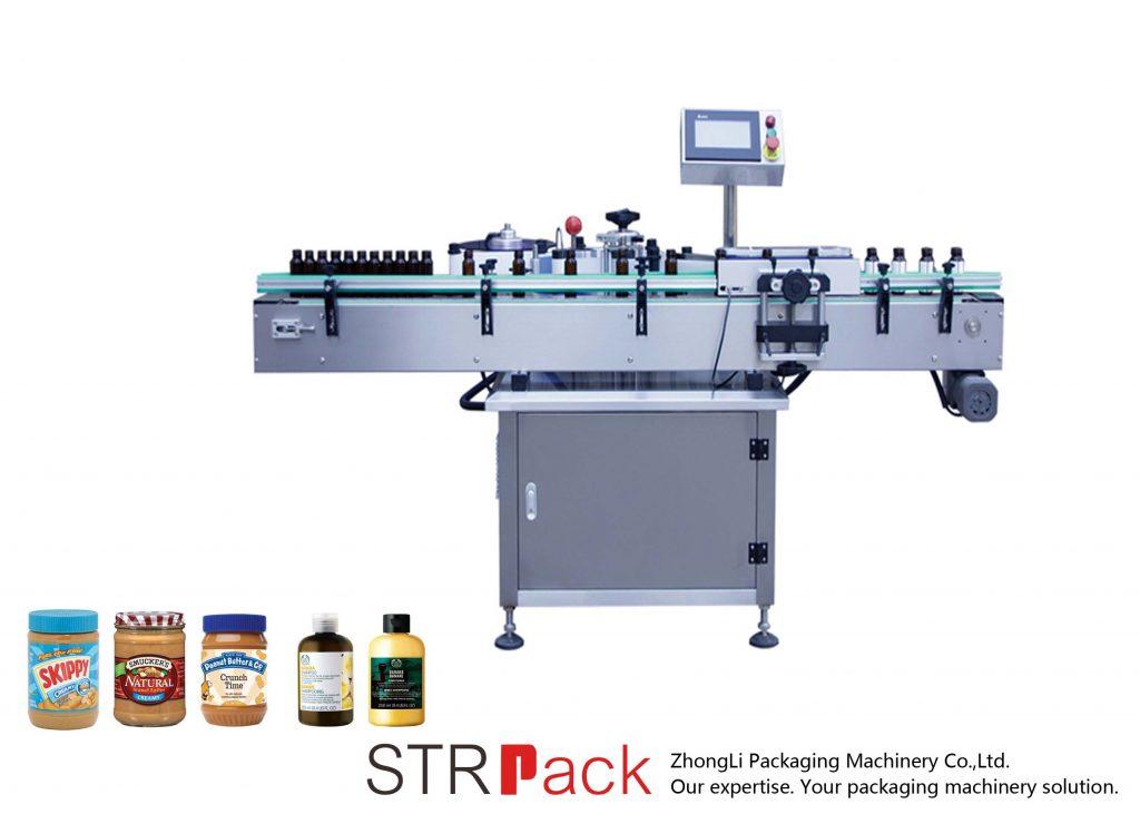Вертикална самозалепваща се машина за етикетиране на кръгли бутилки
